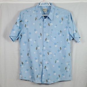 Haggar Hawaiian Shirt/Blue/Size: XL (488)